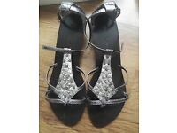 Next Women's Metallic Sandals In Box UK 6.5 RRP 35 Pounds