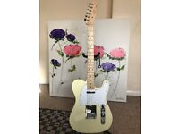Squier By Fender Affinity Telecaster cream, withe plate.