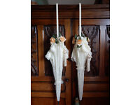 Pair of Wedding/Bridal parasols