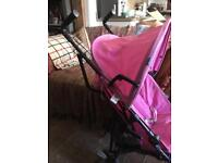 Chicco pink stroller
