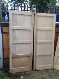Doors: 3x 1930s 5-panel ladder doors - stripped