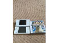 White Nintendo DSI with zoo tycoon