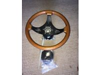 Marine steering box (MorseD290) and steering wheel in good condition