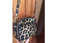 Accessorize 'Ronnie' leopard print cross-body camera bag