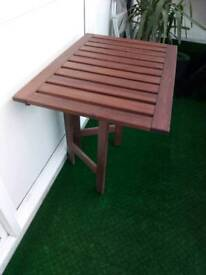 Outdoor wooden folding table