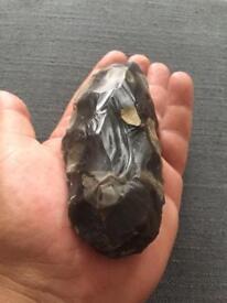 Neolithic flint axe tranchet type