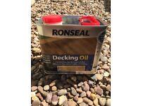 Ronseal decking oil 'natural' 2.5 litres