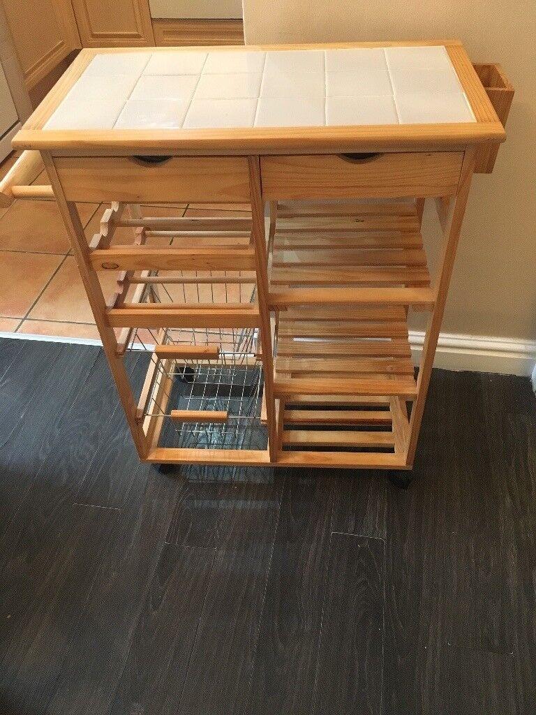 Kitchen trolly, wine rack, fruit/veg storage
