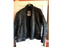 Man leather bike jacket