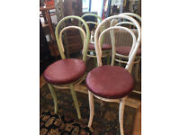 Pair of Chairs , would look great painted. Narrow , great for space saving. £30 each ....