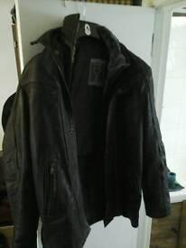 Moterbike brown leather jacket
