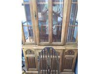 Beautiful pine shabby chic dresser/display cabinet/sideboard