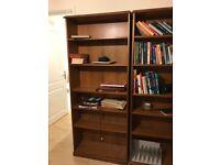 Wooden bookcase x2