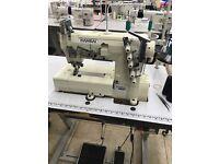 Industrial flat bed, overlock sewing machines and equipment Yuki, Siruba, Eastman
