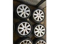 """17"""" GENUINE MINI COPPER S ALLOY WHEELS SET OF 4 WITH TYRES"""