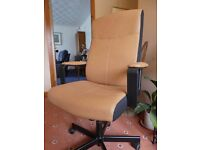 IKEA MALKOLM SWIVEL CHAIR - LIGHT TAN COLOUR