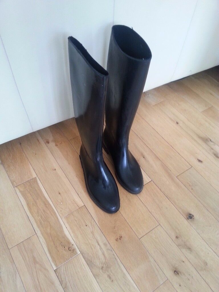 Rubber Riding boots size 6