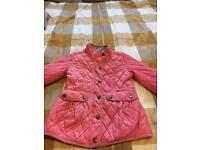 Girls pink coat from Next size 9-10 years