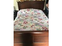 Solid wood sleigh bed very nice solid bed only selling due to need a bed with storage
