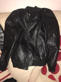 Leather Look Males Jacket