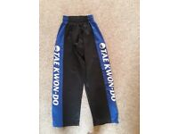 Tae Kwondo training bottoms - age 9 - 10