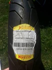 Pirelli Diablo Rosso tyre 110/70 zr 17
