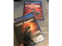Brand new sealed Spider-man And shadow of the Tomb Raider for PS4 £40 each