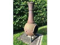 *Heavy* Cast Iron Chiminea Patio Fire