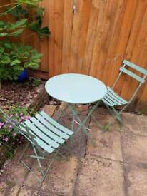 Small round table ideal for small gardens or patio