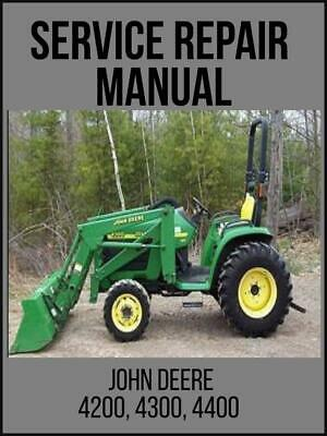 John Deere 4200 4300 4400 Compact Utility Tractor Technical Manual Tm1677 Usb