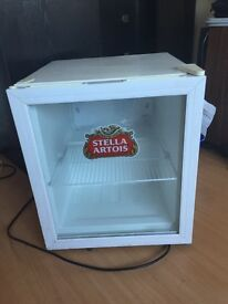 Stella artois mini fridge in full working order