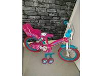 "14"" hello kitty bike with stabilisers"