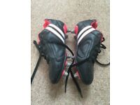 Patrick 'Black Red White' Rugby Boots With Box