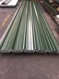 Box profile sheets, juniper green polyester, other colours available