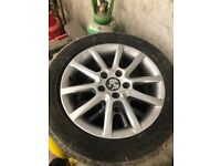 """Vw caddy golf alloy wheels good tyres 16"""""""