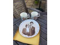 Charles & Diana plate and mugs