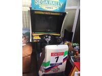 Retro racing sit in racing game