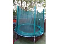 8ft trampoline with ladder