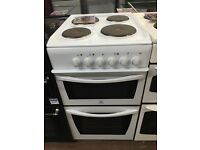 50CM WHITE INDESIT ELECTRIC COOKER HOTPLATE