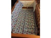 Cot quilt and bumper £15