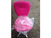 Unused new pink computer chair