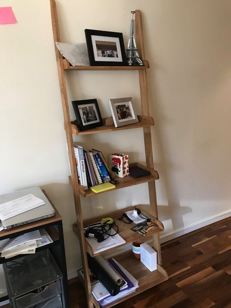 reputable site 4385e cba42 Oak leaning ladder shelves | in Wandsworth, London | Gumtree