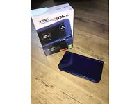 New 3ds XL Metallic Blue, boxed with official charger in excellent condition