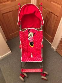 Mothercare Minnie Mouse pram/stroller
