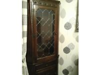 Nathan Dark Oak Corner Display Cabinet for sale  Malton, North Yorkshire