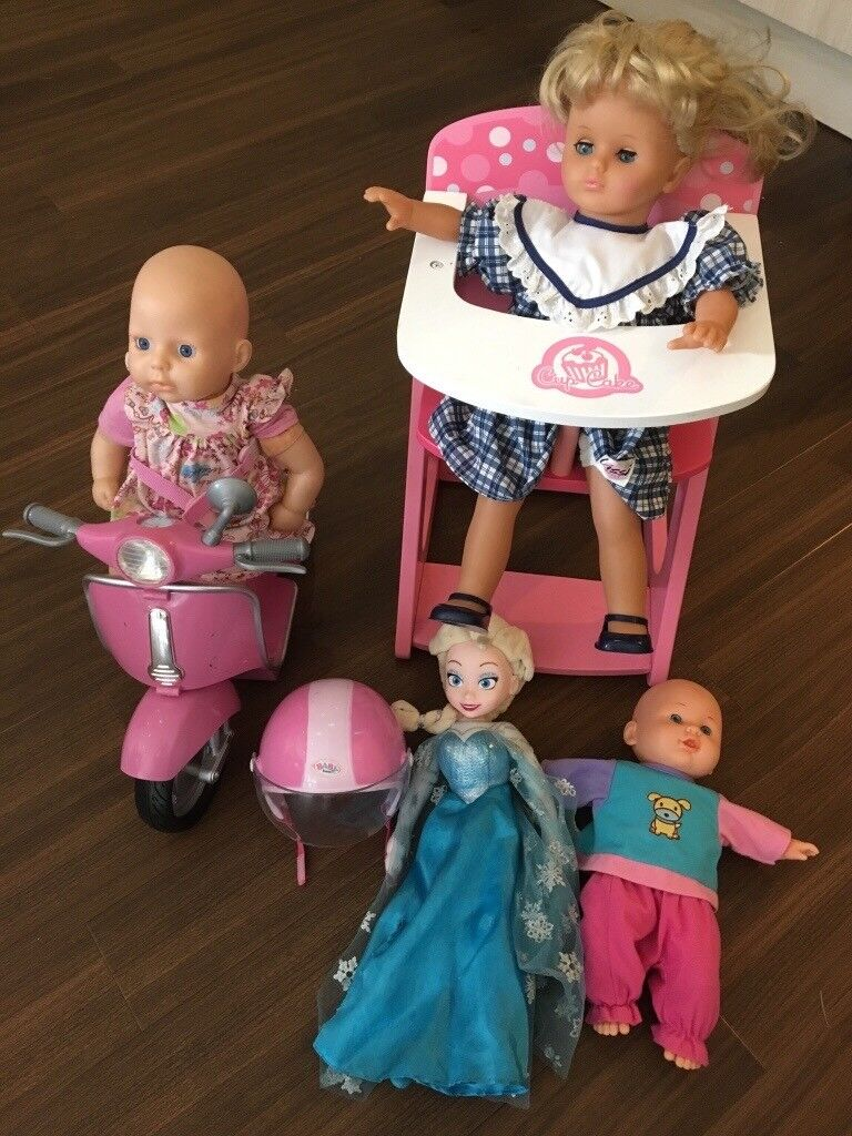 bf41e2f98d9 Lots of dolls and accessories - baby Annabel, Baby born, Lissi, Elsa from  Disney frozen etc