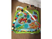Baby play gym and mat, excellent condition complete with box. Was brand new last Christmas