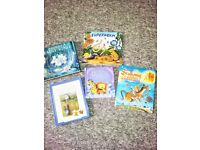 5 books. Various Titles with activities