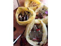 Glass Jars, oil ,vinegar bottles etc.