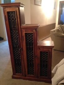 Jali Tall Step CD Cabinet left step